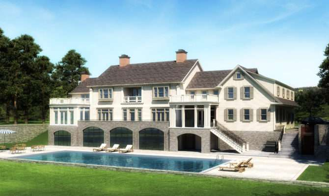 Modern Awesome White Nuance Colonial Homes