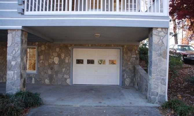 Modern Basement Garage Door Frame