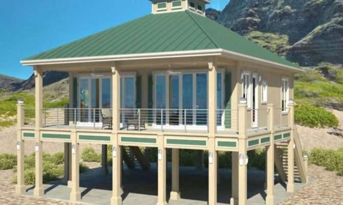 Modern Beach House Plans Stilts