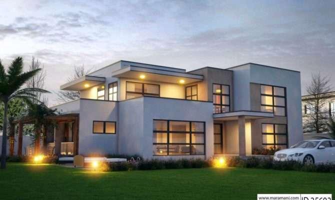 Modern Bedroom House Design Floor Plans