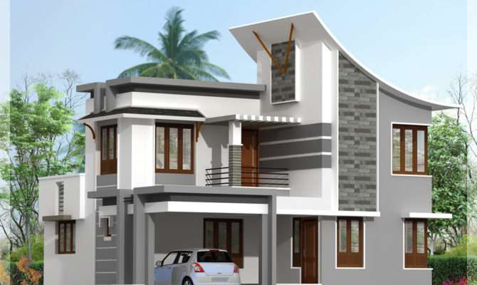 Modern Bedroom House Feet Kerala Home