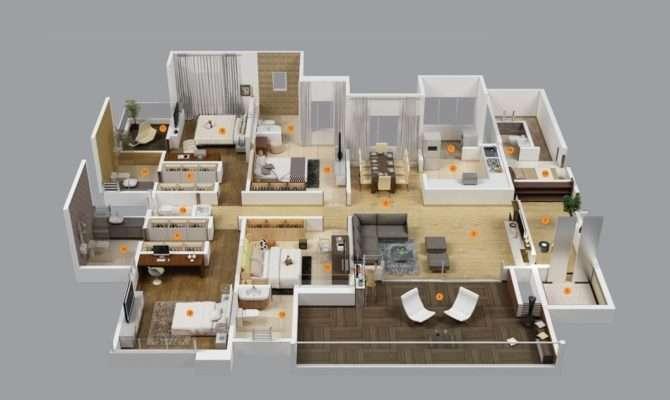 Modern Bedroom House Plans Model Plan