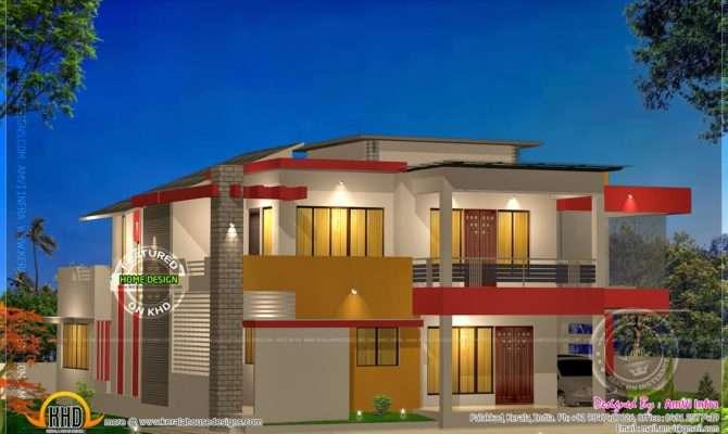 Modern Bhk House Plan Feet Kerala Home