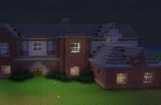 Modern Brick Mansion Minecraft Project