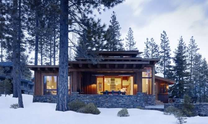 Modern Cabins Mountain Cabin Contemporary Comfort Probably