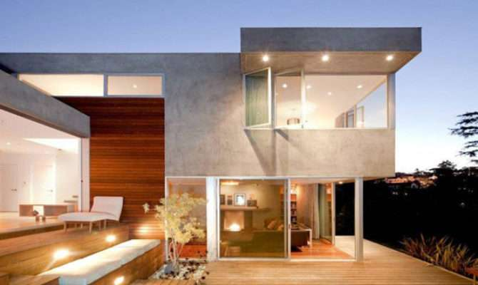 Modern Concrete Wood Glass Home Redesdale