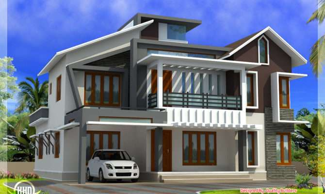 Modern Contemporary Home Feet Kerala Design