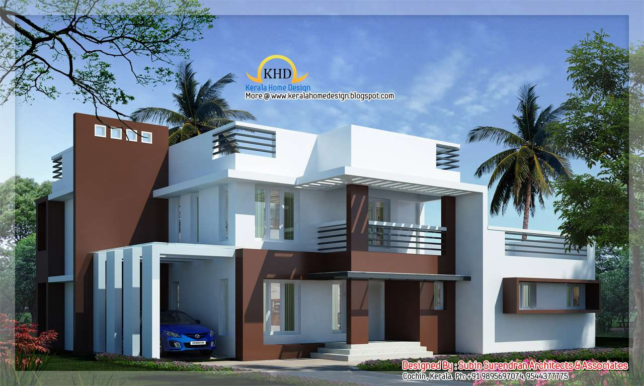 Modern Contemporary Villa Kerala Home