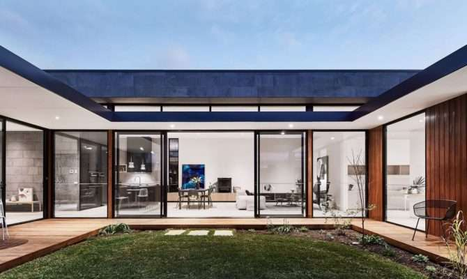 Modern Courtyard House Seaside Haven Curbed