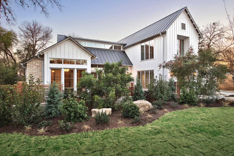Modern Farmhouse Features Cool Indoor Slide Texas