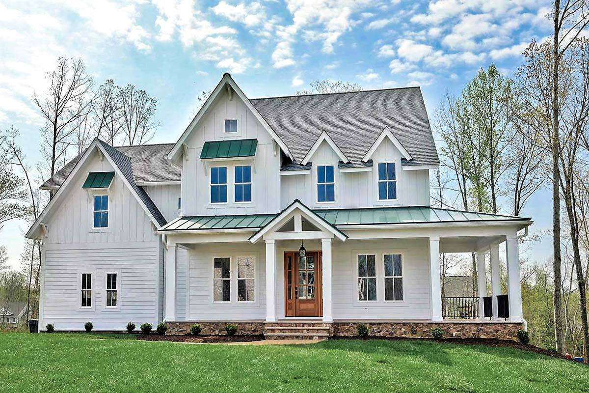 Modern Farmhouse Shaped Front Porch