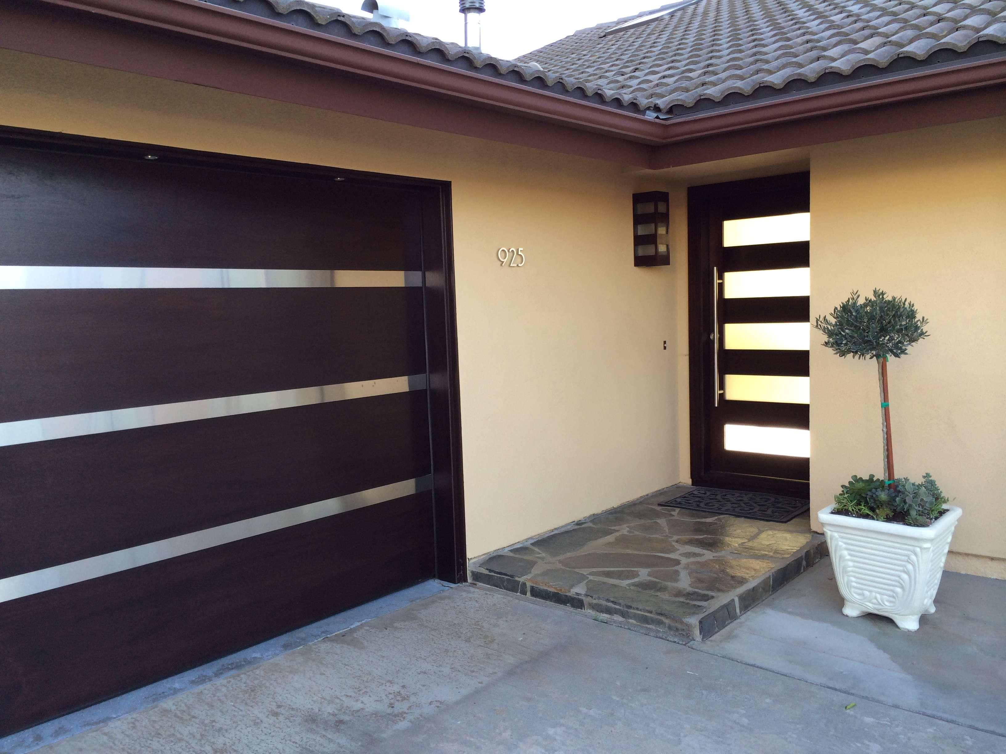 Modern Garage Door Front