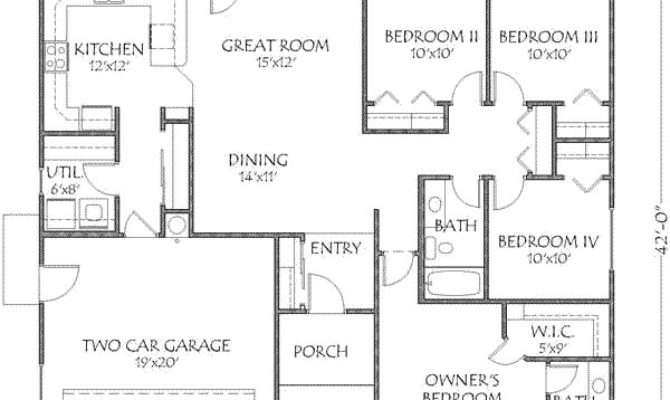 Modern Home Plans Under Square Feet Deco