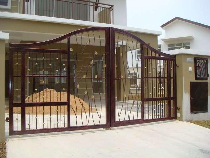 Modern Homes Iron Main Entrance Gate Designs Ideas Home