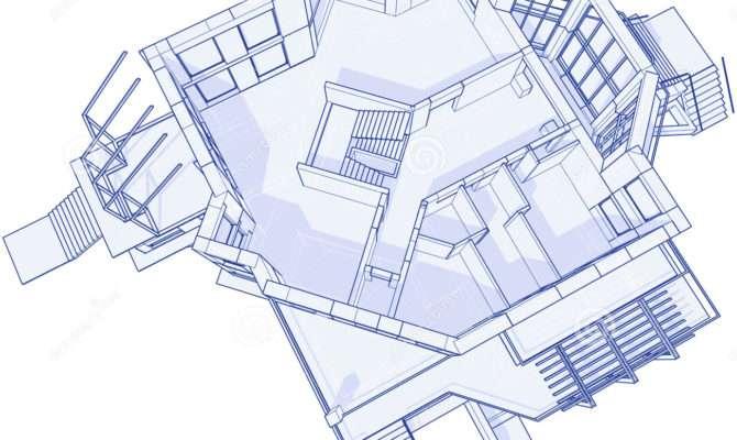 Modern House Blueprint Photography
