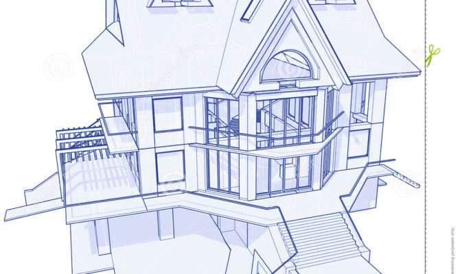 Modern House Blueprint Vector Concept