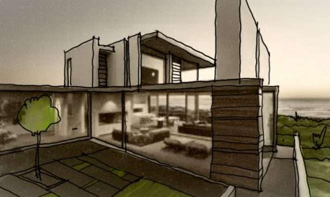 Modern House Design Sketch Arch Student