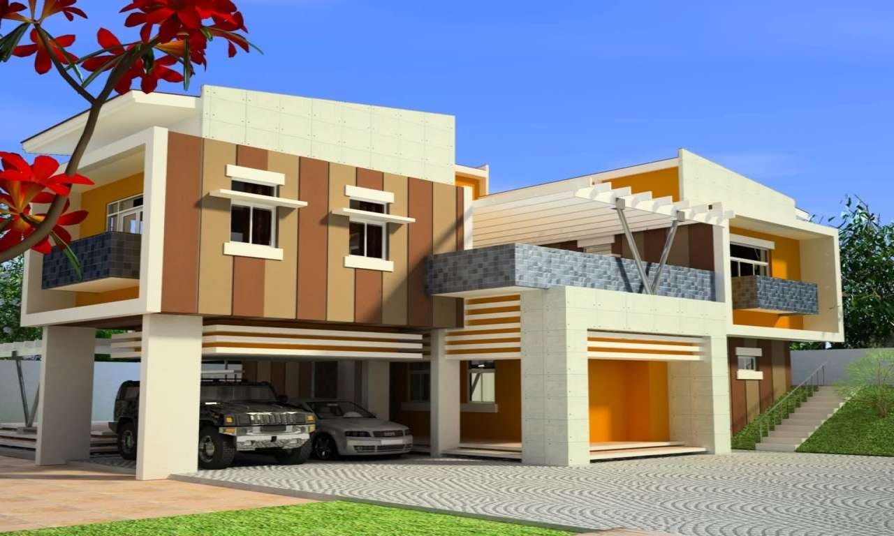 Modern House Design Tropical Front