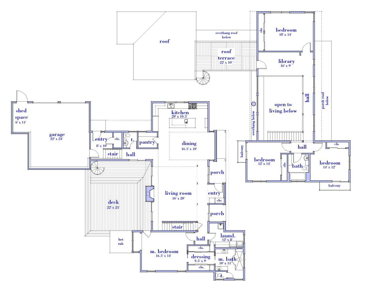 Modern House Designs Floor Plans Cottage