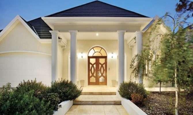 Modern House Exterior Portico Landscaped Garden
