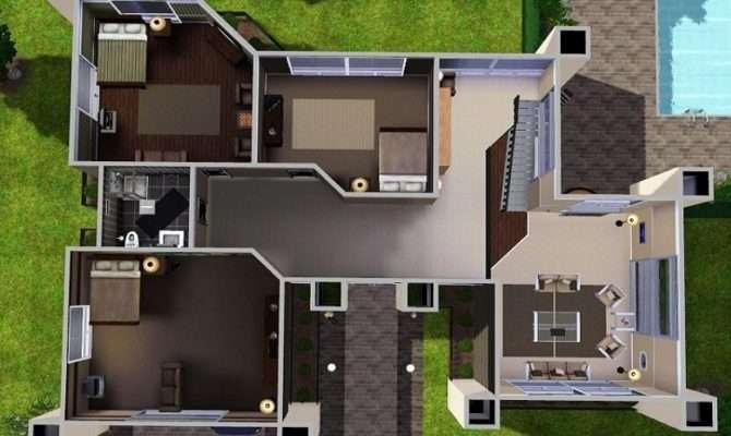 Modern House Floor Plans Sims