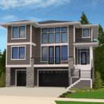 Modern House Plan Front Sloping Lot