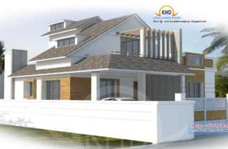 Modern House Plan Kerala Home Design Floor Plans