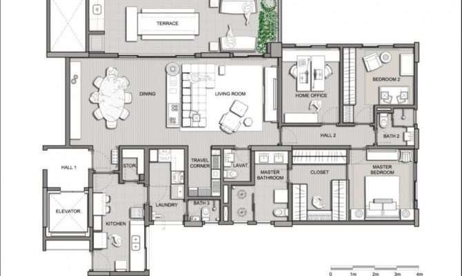 Modern House Plans Villa Designs