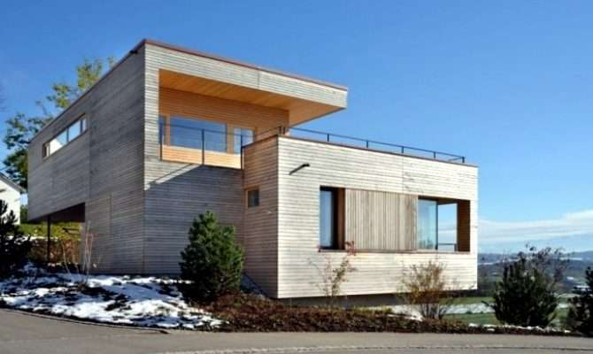 Modern House Slope Switzerland Mountain Views Interior