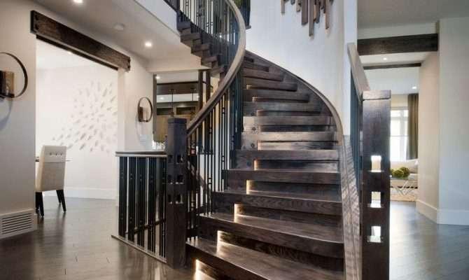 Modern Interior Staircase Materials