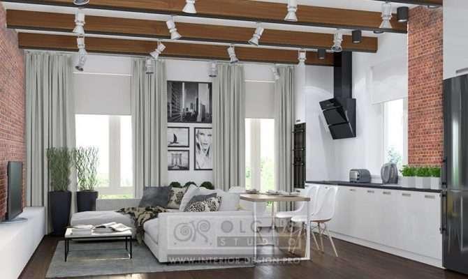 Modern Loft Style Living Room Design Ideas