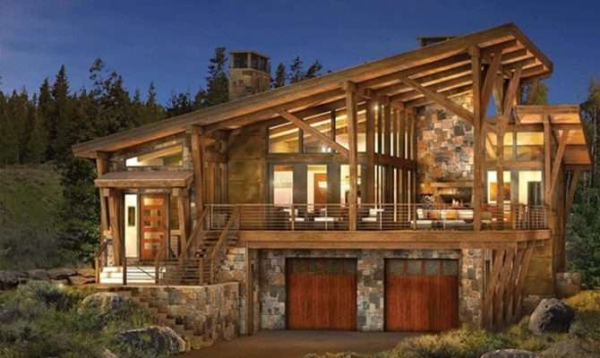 Modern Log Timber Frame Homes