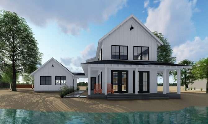 Modern One Story Farmhouse Plans Large