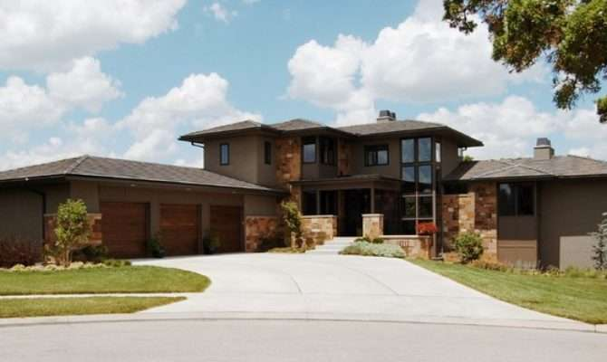 Modern Prairie Style House Front Elevation