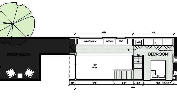 Modern Shotgun House Floor Plan Second