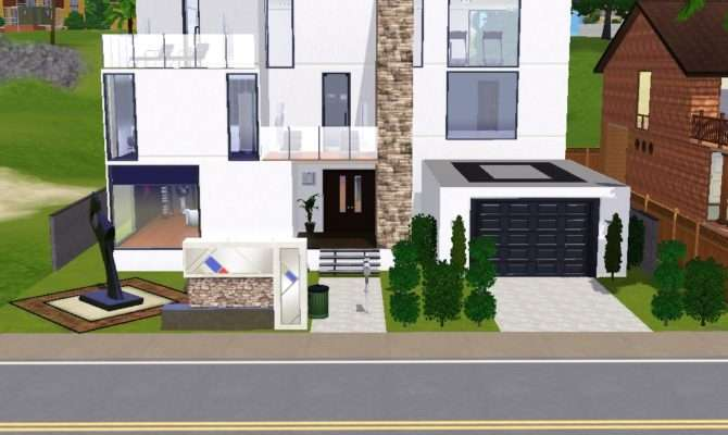 Modern Sims House Lavnebdesigns Deviantart