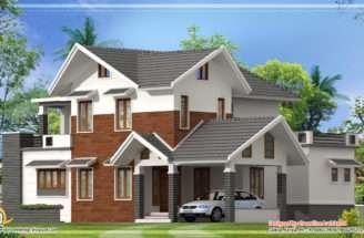 Modern Sloping Roof House Kerala Home Design Floor