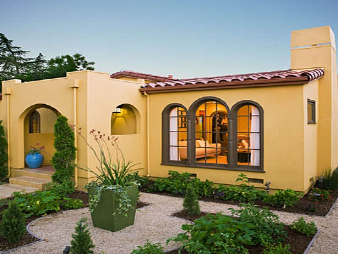 Modern Spanish Style House Plans Central Courtyard