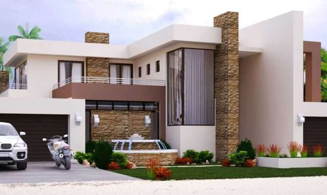 Modern Style House Plan Bedroom Double Storey Floor Plans Home