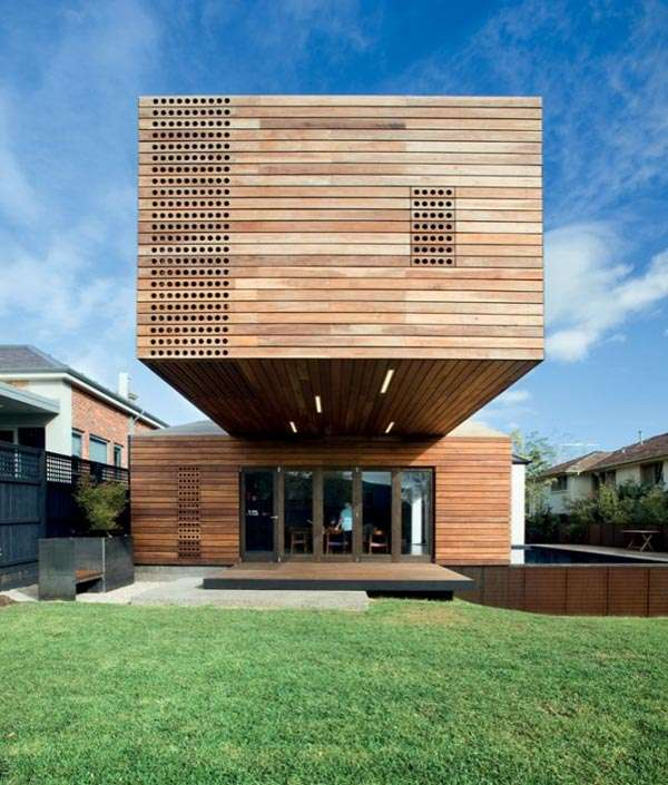 Modern Timber Home Cool Wood Addition