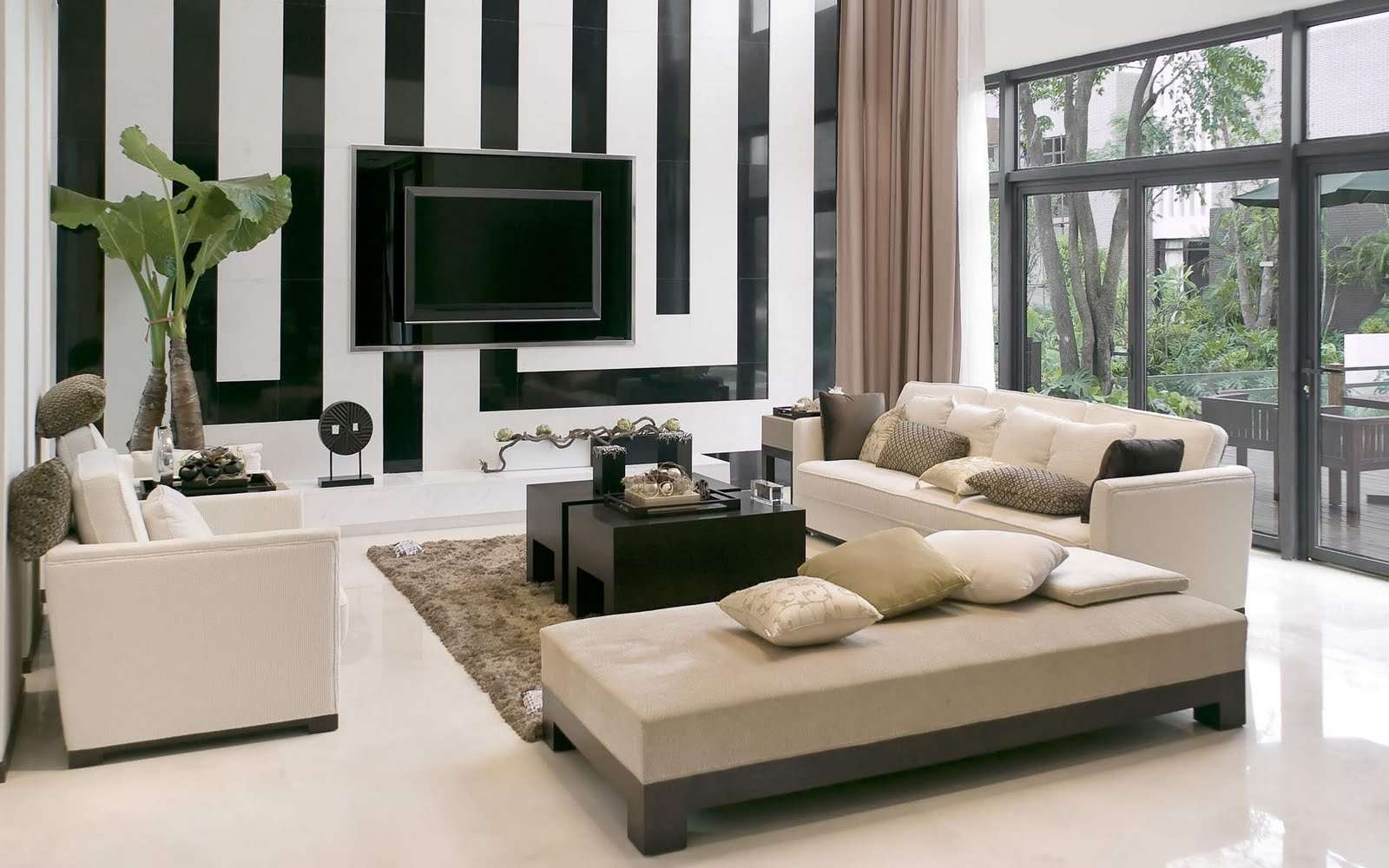Modern Trendy Living Room Home Design Interior Ideas Pics