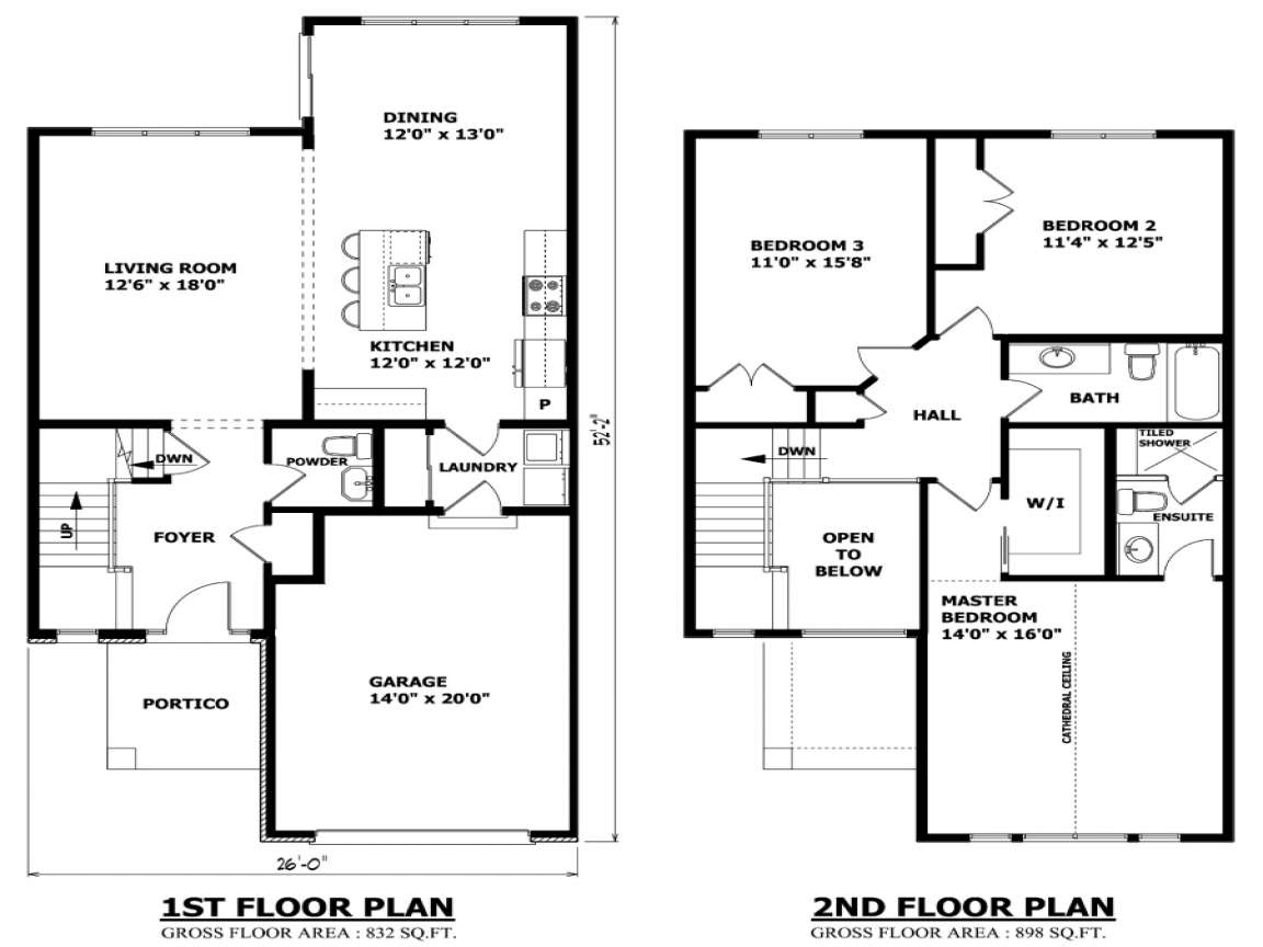 modern two story house plans balcony - Two Story House Plans