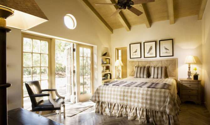 Montecito Cottage Bedroom Traditional Santa