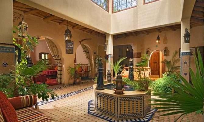 Moroccan Patios Courtyards Ideas Photos Decor