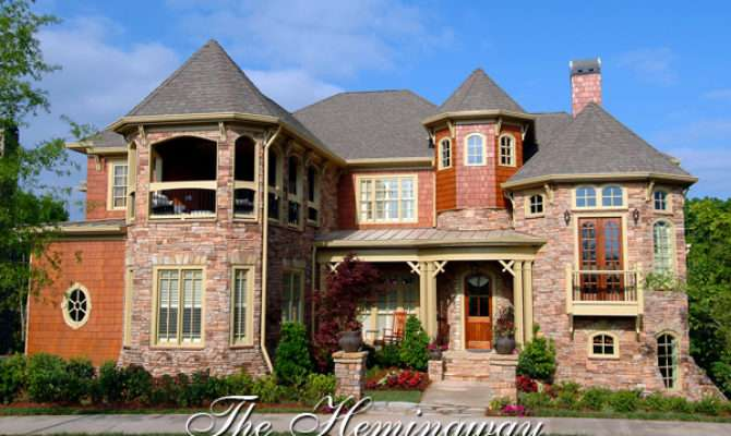 Mountain Castle Style House Plan Hemingway