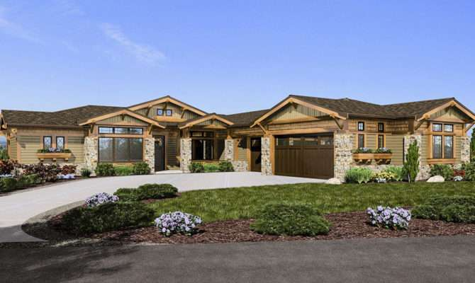 Mountain Craftsman Home Architectural Designs
