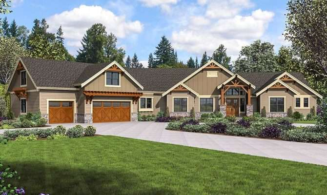 Mountain Craftsman Home Plan Bonus Room Optional