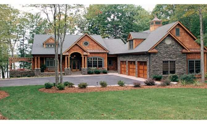 Mountain Craftsman House Plans Lake