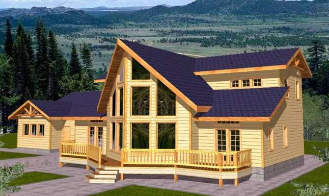 Mountain Home Plan Lot Architectural