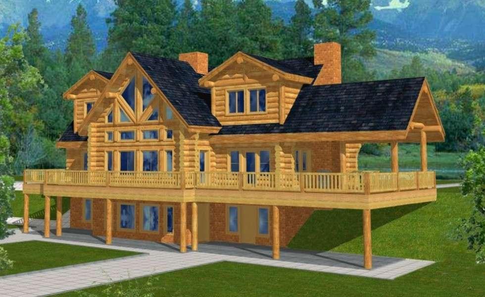 Mountain Home Plans Walkout Basement Attic